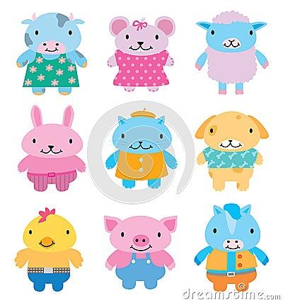 комплект иконы животных