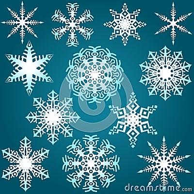 Комплект снежинки
