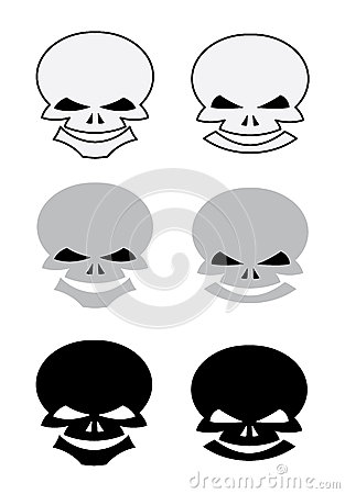 Комплект черепов для татуировки