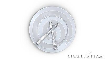 Концепция здорового образа жизни тарелка с часами пора есть видеоматериал