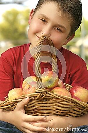 корзина яблока