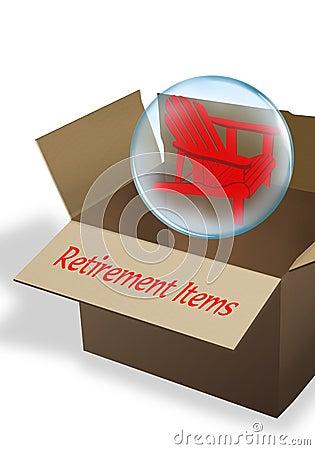 Коробка выхода на пенсию.