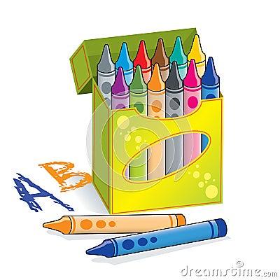 Коробка crayons