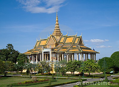 Королевский дворец в Пюном Пеню
