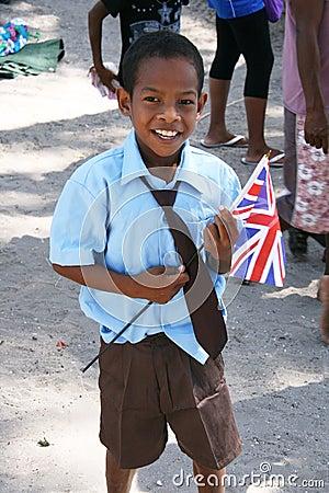 Королевское посещение Редакционное Фотография