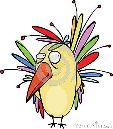красивейшая птица очень