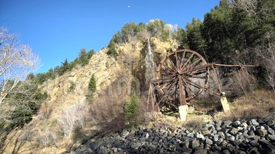 Красивое колесо воды Чарли Tayler на Айдахо скачет акции видеоматериалы