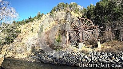 Красивое колесо воды Чарли Tayler на Айдахо скачет видеоматериал