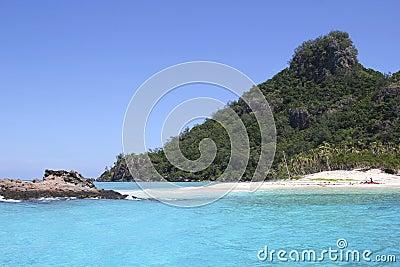 Красивый остров Modriki, Фиджи