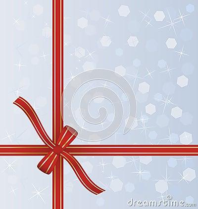 Красная тесемка подарка