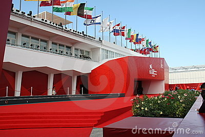 красный цвет ковра Редакционное Стоковое Изображение