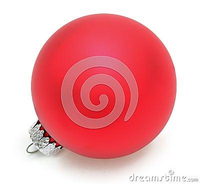красный цвет рождества шарика