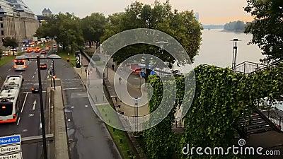 Кёльн, Германия - 9-ое октября 2017 - timelapse улицы видеоматериал