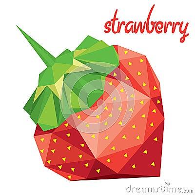 Клубника Origami (низкое поли)