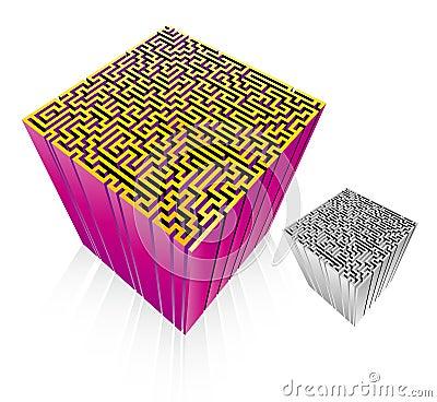 лабиринт 3D (вектор)
