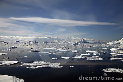 ландшафт Антарктики