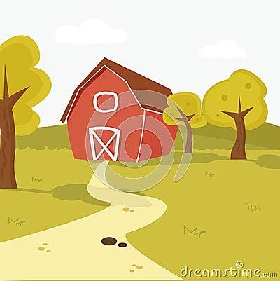 ландшафт фермы