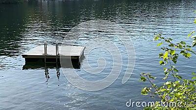 Летом наплывает на озеро на плавающий док акции видеоматериалы