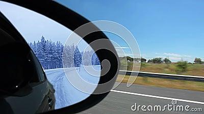 Лето и зима. Отражение видеоматериал