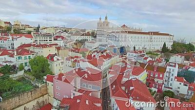 Лиссабон от неба акции видеоматериалы