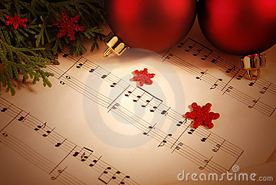 лист нот рождества предпосылки