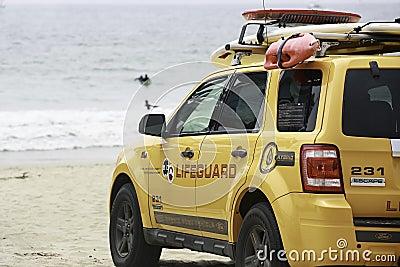 Личная охрана пляжа Венеции Редакционное Стоковое Изображение