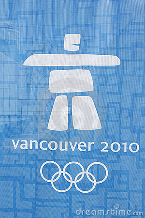 логос олимпийский vancouver Редакционное Изображение