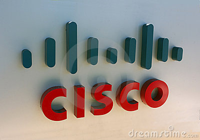 логос cisco Редакционное Стоковое Фото