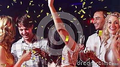 Люди partying на клубе видеоматериал