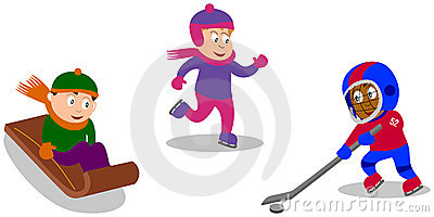 малыши игр играя зиму