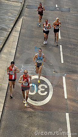 марафон london Редакционное Стоковое Фото