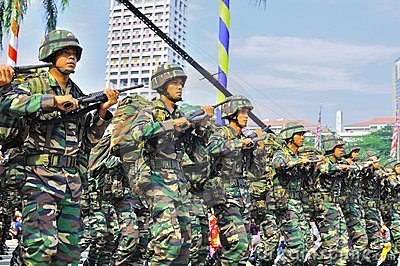 маршировать армии Редакционное Стоковое Фото