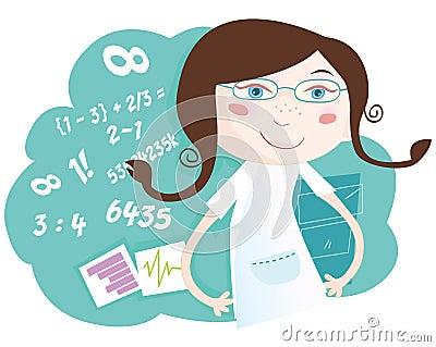математика девушки
