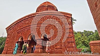 Математика Brindaban Chandra, исторические индусские виски на Guptipara, Burdwan, западной Бенгалии, Индии видеоматериал