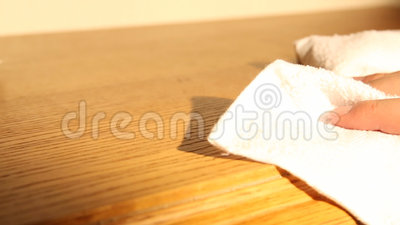 Мебель чистки с wipes сток-видео