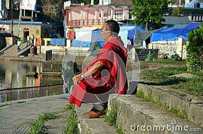 Медитация Редакционное Фотография