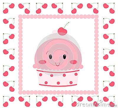 милая мороженого розовая