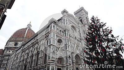 мир unesco места Италии наследия florence собора baptistery зодчества видеоматериал