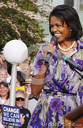 Мишель Obama Редакционное Фотография