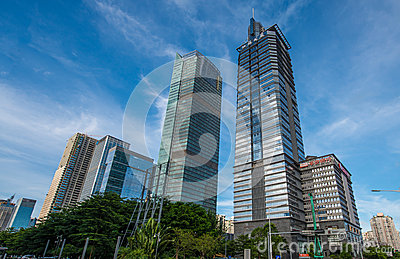 Многоэтажные здания Редакционное Фото