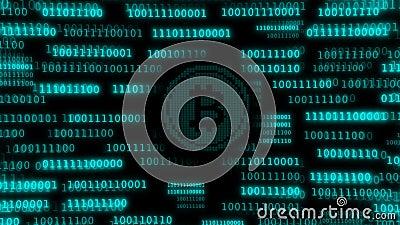 Много строки кода минировали bitcoin иллюстрация вектора