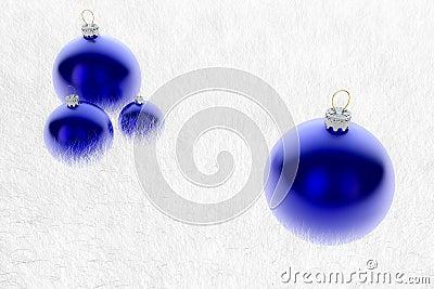 Множественные голубые Baubles в шерсти