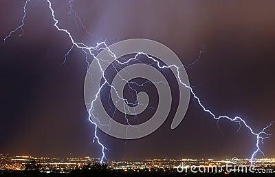 молния города сверх