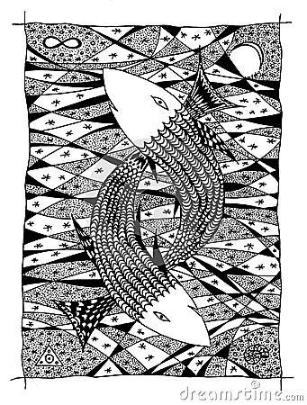 графика рыб чертежа Стоковое фото RF ...: ru.dreamstime.com/стоковое-фото-rf-море...