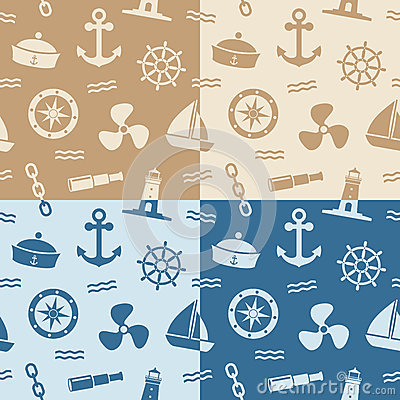 Морские безшовные картины