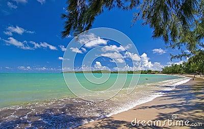 моря 7 Пуерто Рико пляжа