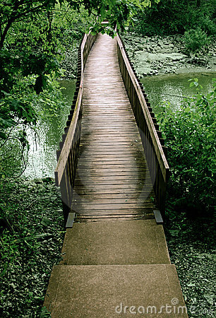 моста древесины вне