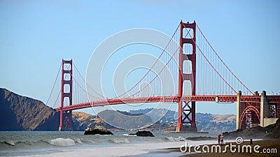Мост золотого строба Сан-Франциско промежутка времени