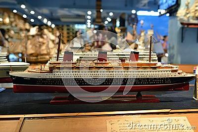Модель корабля Редакционное Стоковое Фото