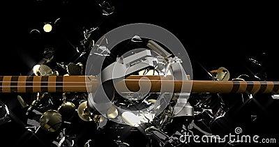 Мягкий стеклянный копилочный банк Экономия денег Коробка денег Железный молот ломает стеклянную свинью, внутри которой есть золот иллюстрация штока
